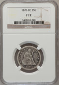 1876-CC 25C Fine 12 NGC. NGC Census: (3/238). PCGS Population (7/302). Mintage: 4,944,000. Numismedia Wsl. Price for pro...
