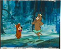 Animation Art:Limited Edition Cel, Boo-Boo and Cindy Bear Production Cel with Background Animation Art (Hanna-Barbera, undated).... (Total: 2 Original Art)