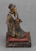 Bronze:European, AN AUSTRIAN EROTIC COLD PAINTED BRONZE ATTRIBUTED TO FRANZ XAVIERBERGMAN: GEISHA . Vienna, Austria, circa 1900 ...