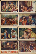 "Movie Posters:Historical Drama, The King of Kings (Pathé, 1927). Lobby Card Set of 8 (11"" X 13.5"").Historical Drama.. ... (Total: 8 Items)"