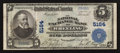 National Bank Notes:West Virginia, Wheeling, WV - $5 1902 Plain Back Fr. 606 The National ExchangeBank Ch. # 5164. ...