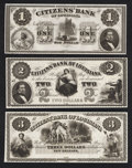 Obsoletes By State:Louisiana, New Orleans, LA- Citizens' Bank of Louisiana $1; $2; $3. ... (Total: 3 notes)