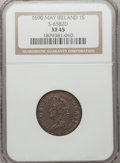 Ireland, Ireland: James II Gunmoney Shilling May 1690,...