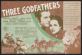 "Movie Posters:Western, Three Godfathers (MGM, 1936). Herald (4 Pages) (5.5"" X 6""). Western.. ..."