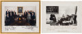 Autographs:U.S. Presidents, Ronald Reagan Cabinet Signed Photograph. ... (Total: 2 Items)