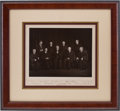 Autographs:Statesmen, Vinson Supreme Court Candid Photograph Signed by all Nine Justices....