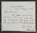 Autographs:U.S. Presidents, Abraham Lincoln Autograph Letter Signed as President....