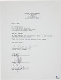 Music Memorabilia:Autographs and Signed Items, Guns 'N' Roses Band-Signed Document....