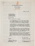 """Movie/TV Memorabilia:Autographs and Signed Items, A Fredric March Signed """"Dr. Jekyll and Mr. Hyde"""" Radio Contract...."""