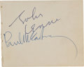Music Memorabilia:Autographs and Signed Items, Beatles Related - John Lennon and Paul McCartney Autographs....