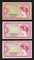 Military Payment Certificates:Series 641, Series 641 $1 Three Examples.. ... (Total: 3 notes)