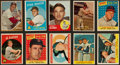 Baseball Cards:Lots, 1957 to 1976 Topps, Fleer and Post Hall Of Famers Collection (71)....