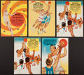 Basketball Collectibles:Programs, 1956 Wilt Chamberlain High School Programs Lot of 5....