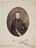Photography:Studio Portraits, [Civil War] William H. Morgan Salt Print Signed....