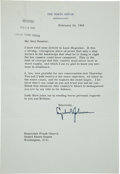 Autographs:U.S. Presidents, Lyndon B. Johnson Typed Letter Signed as President....