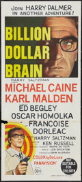 "Movie Posters:Thriller, Billion Dollar Brain (United Artists, 1967). Australian Daybill (13.25"" X 30""). Thriller.. ..."