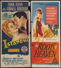 "Movie Posters:Adventure, Istanbul and Other Lot (Universal International, 1957). AustralianDaybills (2) (13"" X 30"" and 13.5"" X 30). Adventure.. ... (Total: 2Items)"