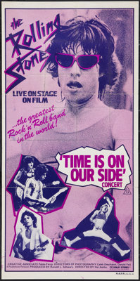 "Let's Spend the Night Together (Roadshow, 1983). Australian Daybill (13"" X 30""). Retitled Time is on Our Side..."