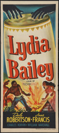 "Movie Posters:Adventure, Lydia Bailey (20th Century Fox, 1952). Australian Daybill (13"" X30""). Adventure.. ..."