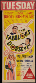 "Movie Posters:Musical, The Fabulous Dorseys (United Artists, 1947). Australian Daybill(13"" X 30""). Musical.. ..."