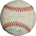 Autographs:Bats, 1977 Boston Red Sox Team Signed Baseball (22 Signatures). ...