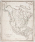Books:Maps & Atlases, [Maps]. [A. K. and W. Johnston, engravers]. North America. [N.p., n.d., ca. 1870]. Hand-colored engraved map wit...