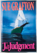 "Books:Mystery & Detective Fiction, Sue Grafton. ""J"" Is for Judgement. New York: Henry Holt,[1993]. First edition. Octavo. 288 pages. Publisher's bindi..."