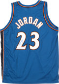 Basketball Collectibles:Uniforms, Michael Jordan Signed Washington Wizards Jersey....