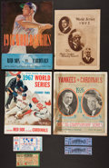Baseball Collectibles:Others, 1925-67 World Series Programs and Tickets Collection....
