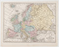 Books:Maps & Atlases, [Maps]. [J. H. Young, engraver]. No. 21, Map of Europe Engravedto Illustrate Mitchell's School and Family Geography....