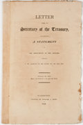 Books:Americana & American History, [Americana]. Letter from the Secretary of the Treasury,Transmitting a Statement of the Emoluments of the OfficersEmplo...