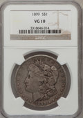 Morgan Dollars: , 1899 $1 VG10 NGC. NGC Census: (10/7598). PCGS Population(10/10164). Mintage: 330,846. Numismedia Wsl. Price for problemfr...