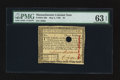 Colonial Notes:Massachusetts, Massachusetts May 5, 1780 $3 PMG Choice Uncirculated 63 EPQ.. ...