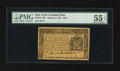 Colonial Notes:New York, New York March 5, 1776 $2/3 PMG About Uncirculated 55 EPQ.. ...
