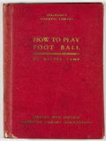 Books:Americana & American History, [Walter Camp, editor]. How to Play Foot Ball. New York:American Sports, [1917]. First edition. Twelvemo. 112 pa...