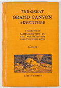 Books:Americana & American History, Oscar R. Jaeger. The Great Grand Canyon Adventure. Dubuque:Jaeger, [1932]. Pocket edition. Octavo. 196 pages. Publi...