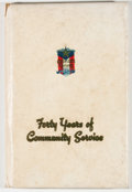 Books:Americana & American History, [Karl Hoblitzelle, subject]. Forty Years of Community Service:The Story of Karl Hoblitzelle and the Development of Inte...