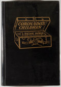 Books:Americana & American History, J. Frank Dobie. Coronado's Children. Dallas: SouthwestPress, [1930]. First edition, second state. Octavo. 367 pages...