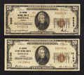 National Bank Notes:Virginia, Norfolk, VA - $20 1929 Ty. 1 The Virginia NB Ch. # 9885; $20 1929Ty. 1 The Seaboard Citizens NB Ch. # 10194. ... (Total: 2 notes)