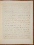 Autographs:U.S. Presidents, [George Washington] Martha Washington Autograph Letter Signed...