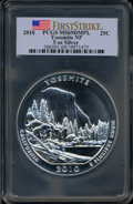Modern Bullion Coins, 2010 25C Yosemite Five Ounce Silver First Strike MS69 Deep MirrorProoflike PCGS. PCGS Population (2230/0). NGC Census: (0/...