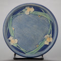 Ceramics & Porcelain, American:Modern  (1900 1949)  , A NEWCOMB ART POTTERY CIRCULAR TILE BY JOSEPH MEYER, DECORATED BYHENRIETTA DAVIDSON BAILEY. Circa 1910 . Marks: NC, HB, J...