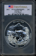Modern Bullion Coins, 2011 25C Glacier National Park Five Ounce Silver, First Strike MS69Deep Mirror Prooflike PCGS. PCGS Population (2960/0). N...