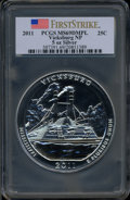 Modern Bullion Coins, 2011 25C Vicksburg Five-Ounce Silver, First Strike MS69 Deep MirrorProoflike PCGS. Ex: Signature of John M. Mercanti, 12th...
