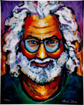 Music Memorabilia:Original Art, Grateful Dead - Jerry Garcia Limited Edition Portrait by GraceSlick....