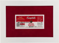 Movie/TV Memorabilia:Autographs and Signed Items, Andy Warhol Signed Campbell's Soup Label....