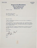"Autographs:U.S. Presidents, Gerald R. Ford Typed Letter Signed ""Gerry Ford"" as MinorityLeader of the House of Representatives...."