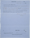 Autographs:Statesmen, [Slavery] Charles Clark Document Signed as Governor of Mississippi....