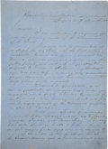 Autographs:Military Figures, [Civil War] George W. Brent Autograph Letter Signed to General Daniel Ruggles...