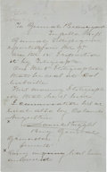 Autographs:Military Figures, [Civil War] Daniel Ruggles Autograph Note Signed as General...